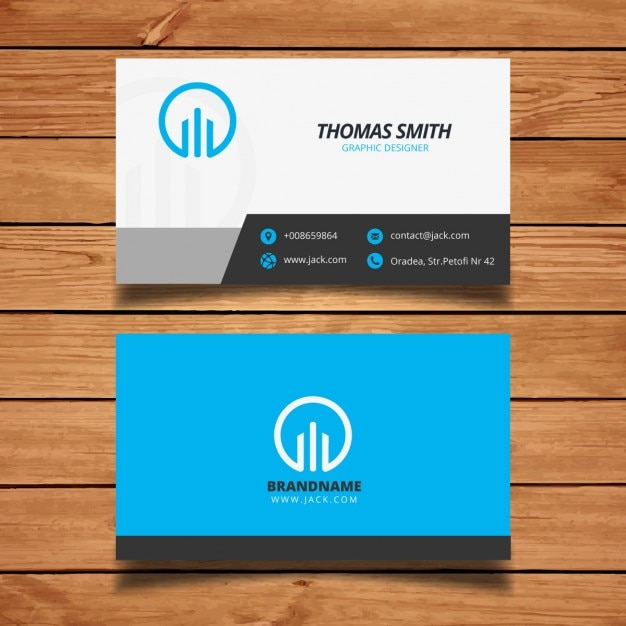 Blue corporate business card template vector free download blue corporate business card template free vector accmission