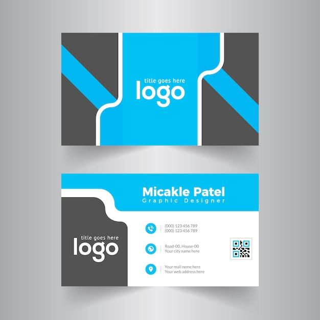 Blue corporate business card vector design vector premium download blue corporate business card vector design premium vector colourmoves