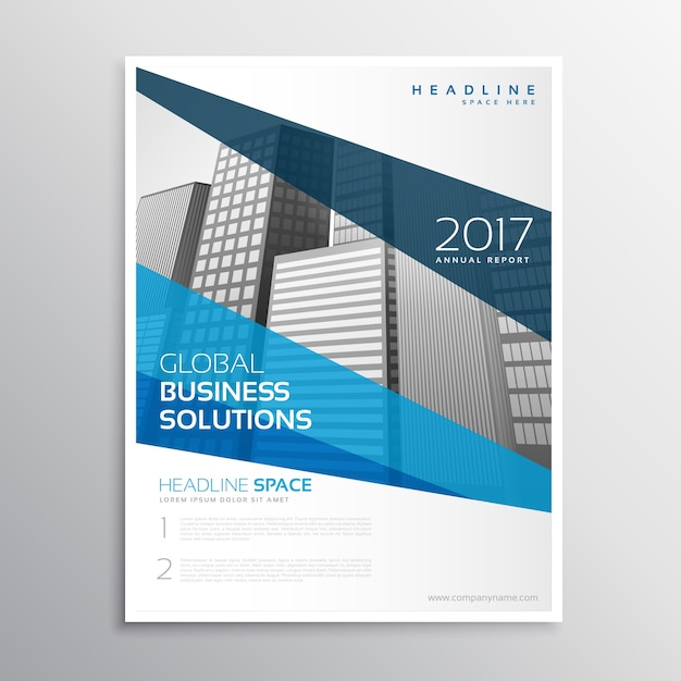 Blue corporate business flyer design