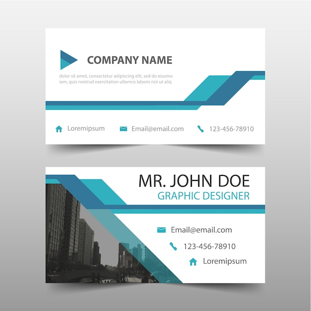 Captivating Blue Corporate Card