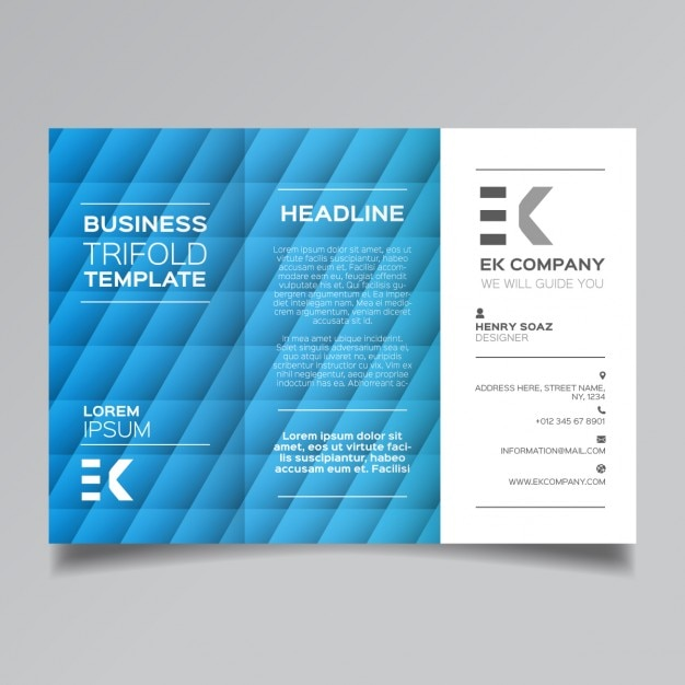 Blue corporate modern brochure template