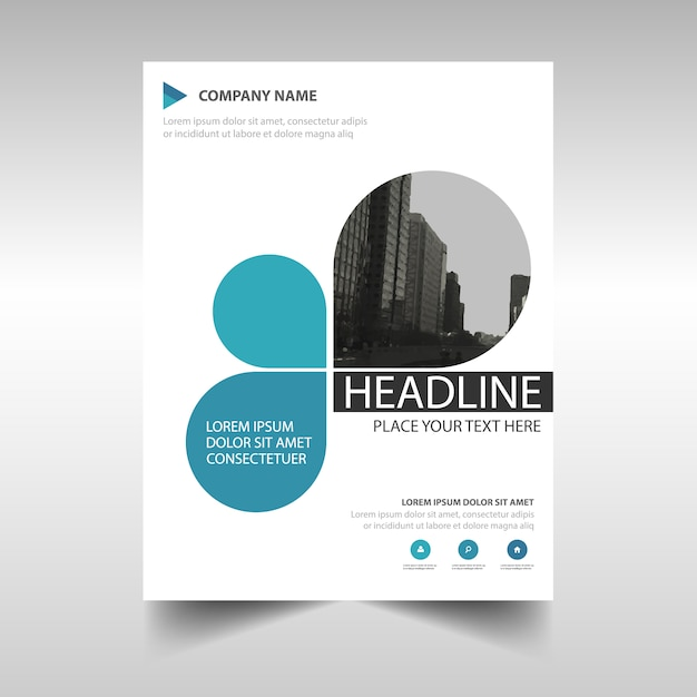 Charming Blue Creative Annual Report Book Cover Template Free Vector And Cover Template