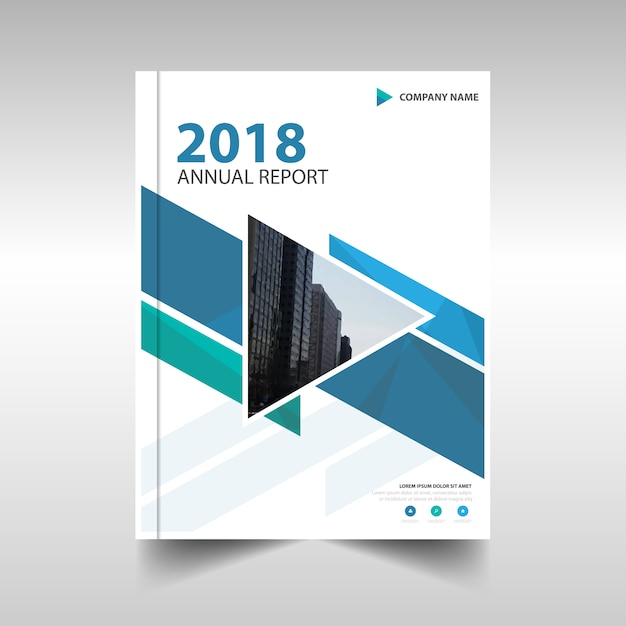 Blue Creative Annual Report Template Vector  Free Download