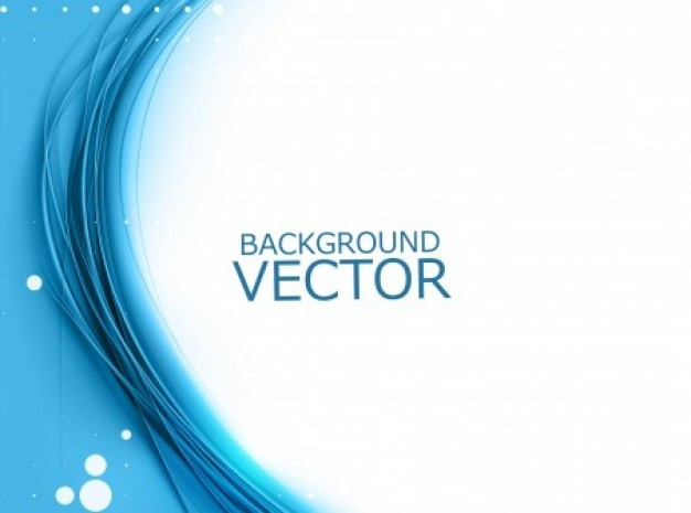 Blue curve on white background Free Vector