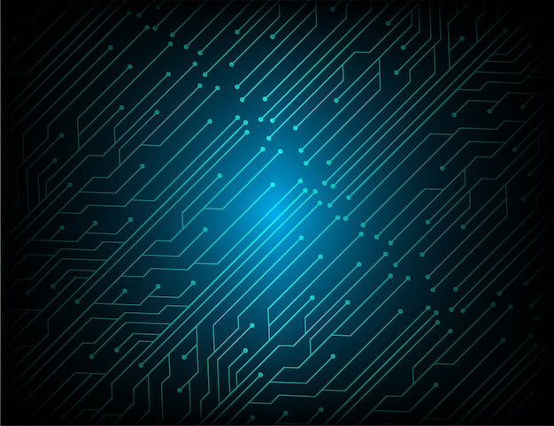 Blue cyber circuit future technology concept background Premium Vector