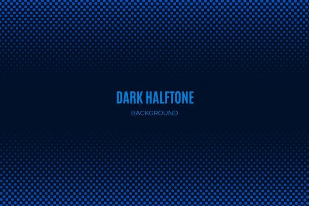Blue dark halftone background Free Vector