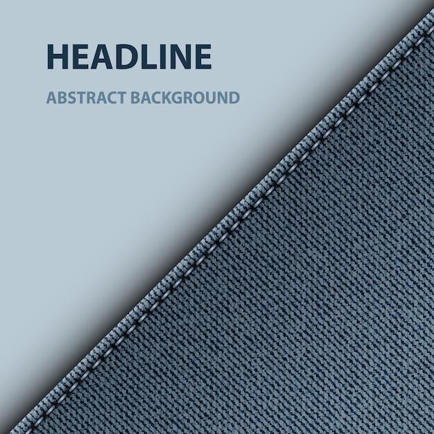 Blue denim diagonal design Premium Vector