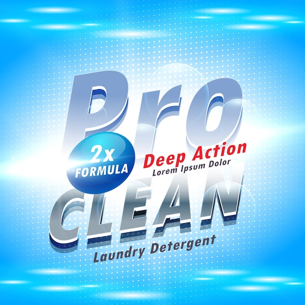 Blue Detergent Packaging Template Vector Free Download