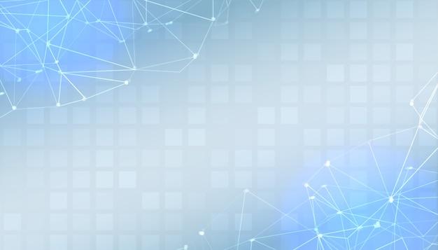 Banner di presentazione digitale blu con spazio di testo Vettore gratuito