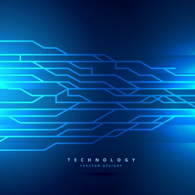 Blue Digital Technology Background Vector Free Download