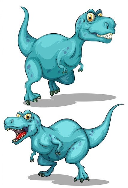 Синий динозавр с резкими зубами Бесплатные векторы