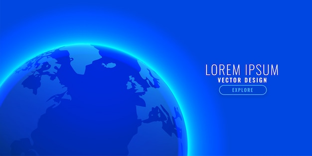 Blue earth background with text space Free Vector