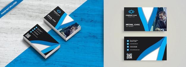 Синяя элегантная корпоративная карта Premium векторы