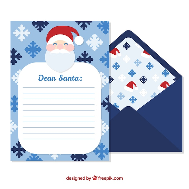 Blue envelope and letter template with santa vector free download blue envelope and letter template with santa free vector pronofoot35fo Image collections