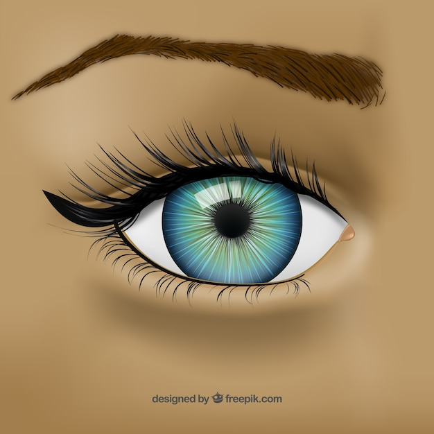 Blue eye Free Vector