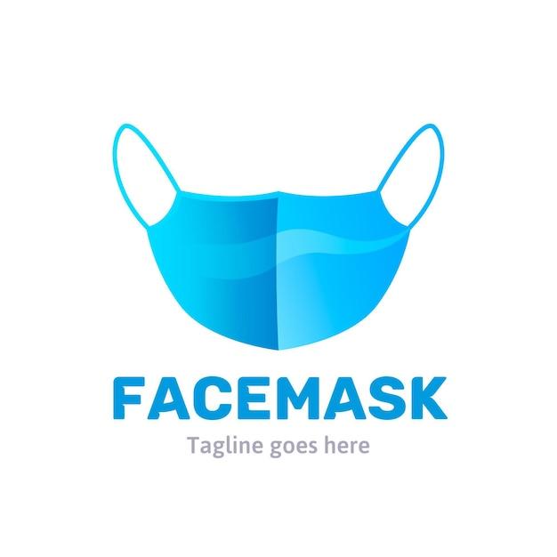 블루 페이스 마스크 로고 프리미엄 벡터