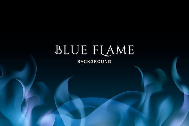 Blue flame background Free Vector