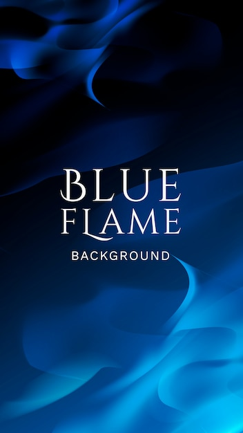 Blue flame banner Free Vector