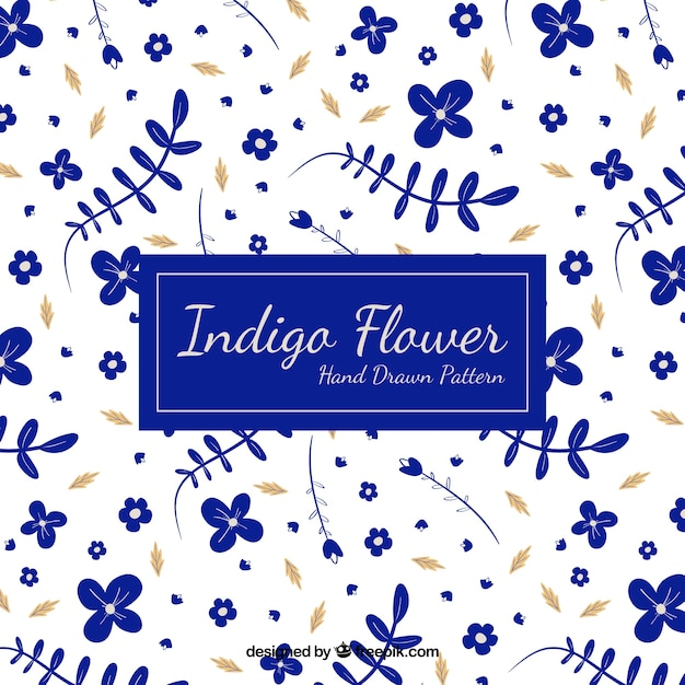 Blue floral background Free Vector