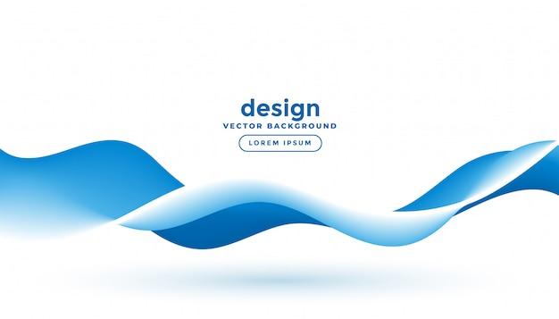 青い流体運動流れる波背景デザイン 無料ベクター
