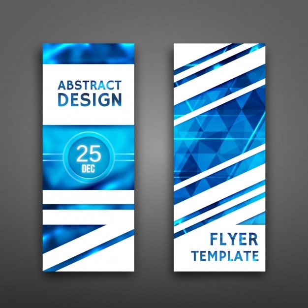 Blue Flyer Template Vector  Free Download