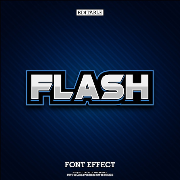 Blue font and text with e-sports logo style Premium Vector