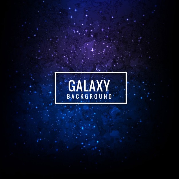 Blue galaxy background Free Vector