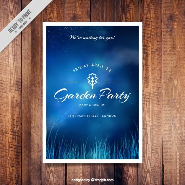 Blue garden party invitation design vector free download blue garden party invitation design free vector stopboris Gallery