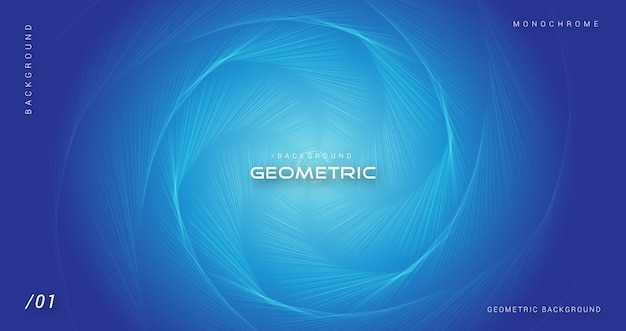 Blue geometric abstract hexagonal background Premium Vector