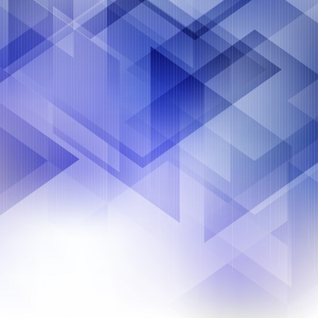 Blue geometric background with transparencies Vector ...