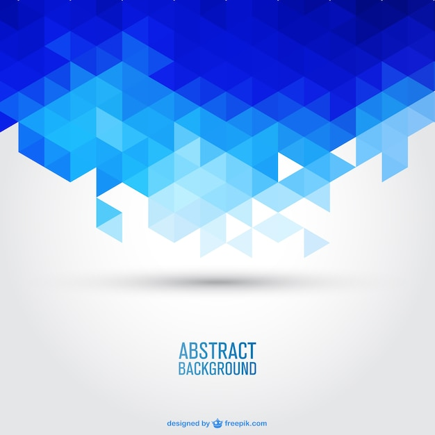 Blue geometric background Free Vector