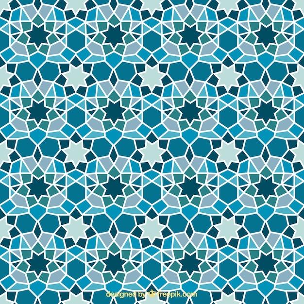 Blue Geometric Mosaic Background Vector Premium Download