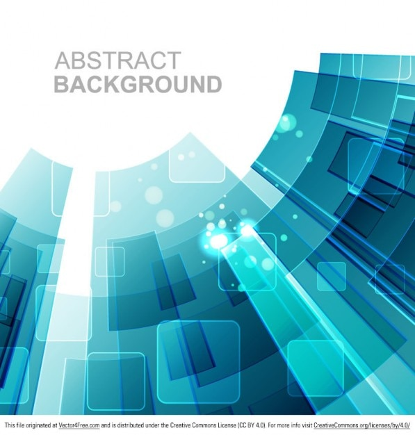 Blue geometric tech background  Free Vector