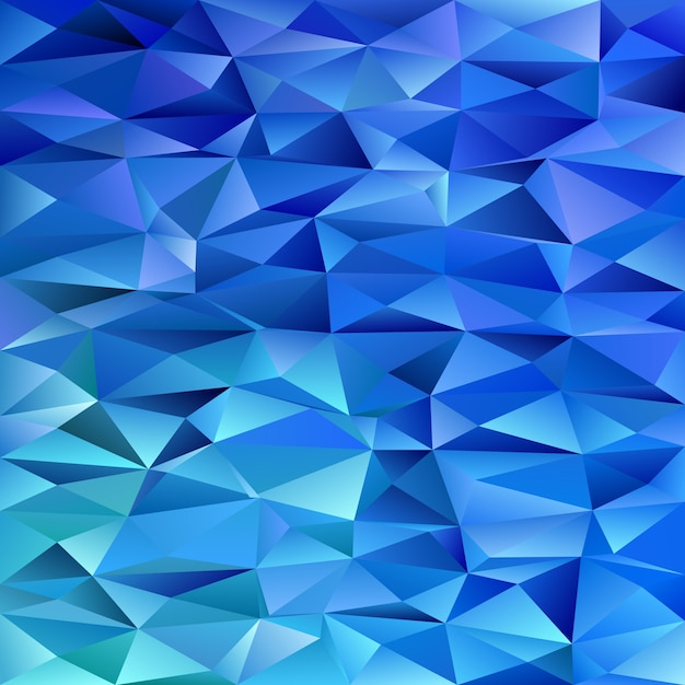 Blue geometrical abstract triangle background - polygon vector illustration from colored triangles