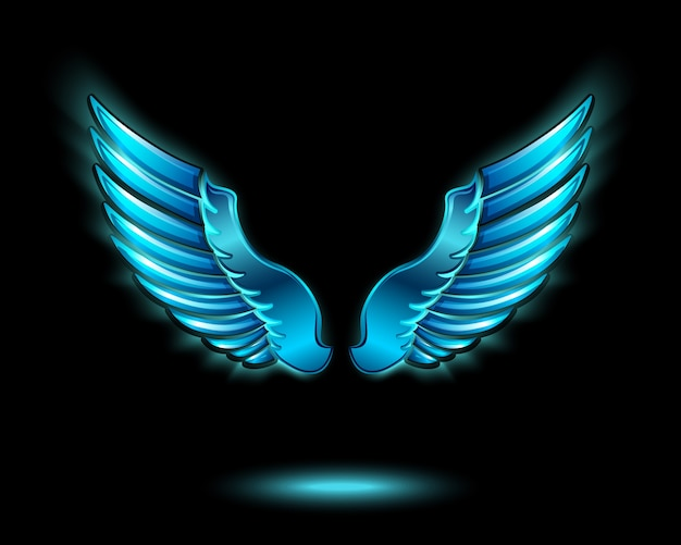 Guess Who? Blue-glowing-angel-wings-with-metal-shine-and-shadow-symbol-vector-illustration_1284-2008