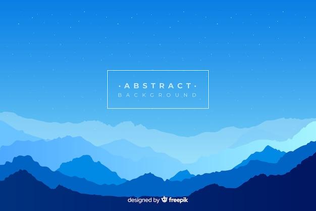 Blue gradient mountains landscape Free Vector