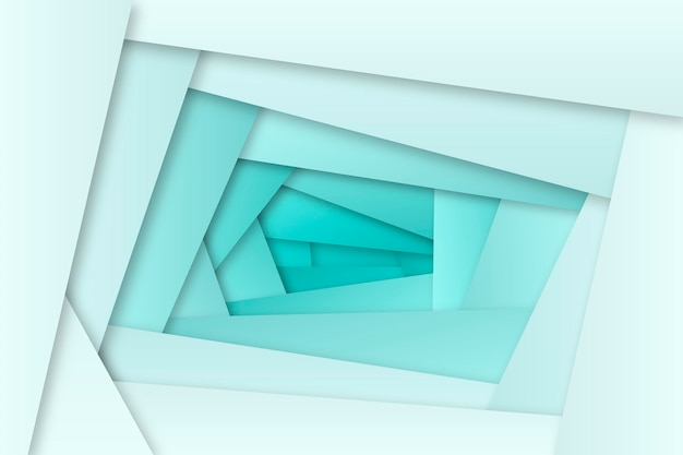 Blue gradient wallpaper with geometrical shapes Free Vector