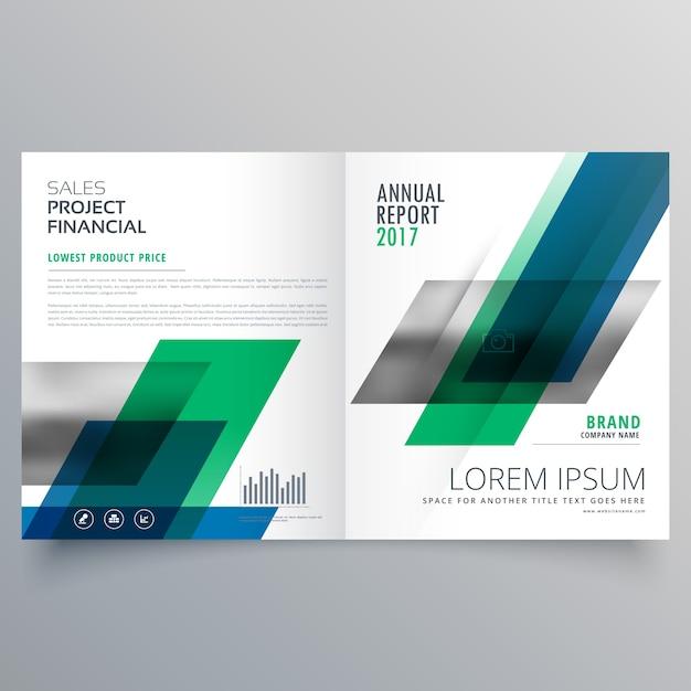 Modello di creatività professionale design brochure aziendale bifold con forme geometriche Vettore gratuito