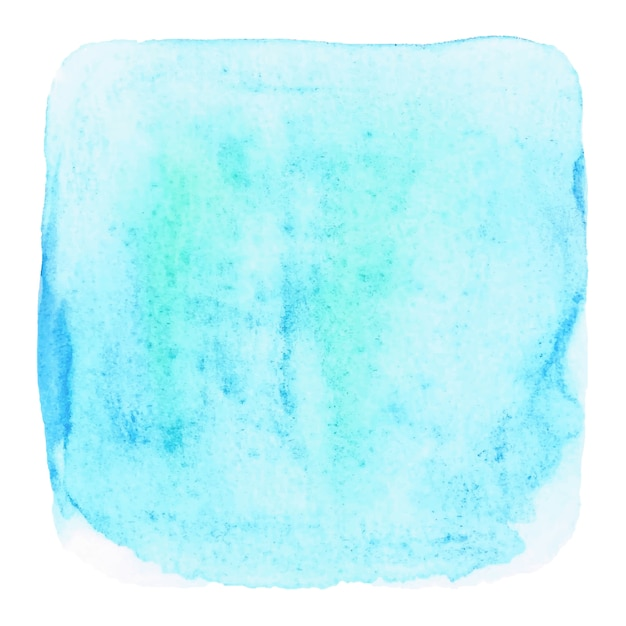 Blue grunge watercolor on white background Premium Vector