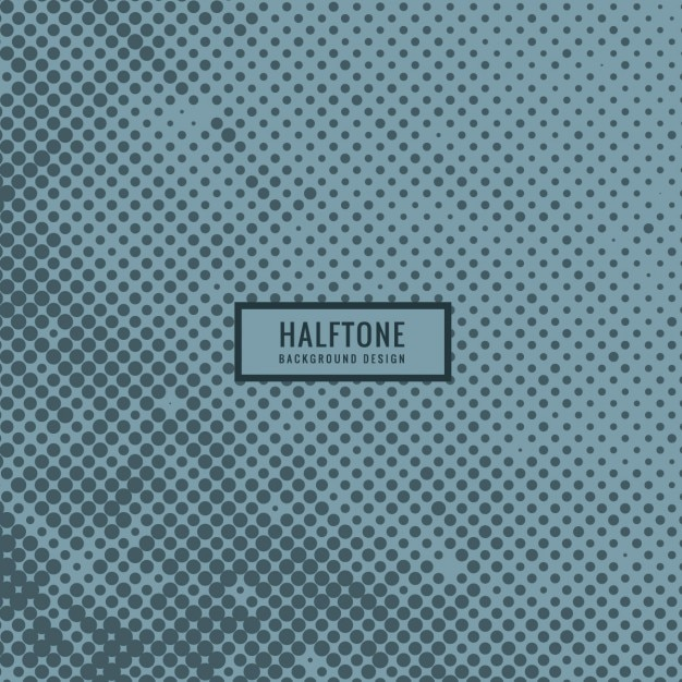 Blue halftone background Free Vector