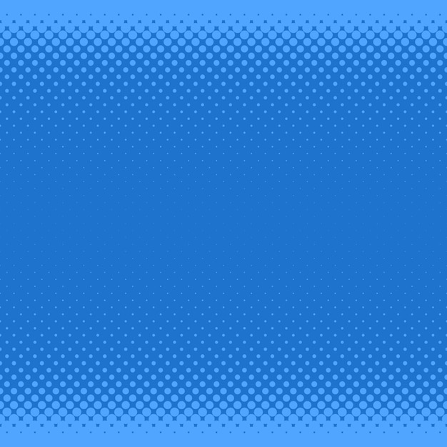 Blue halftone dot pattern background - vector graphic from circles in varying sizes Free Vector