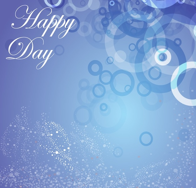 Blue Happy Birthday Graphics Vector Free Download