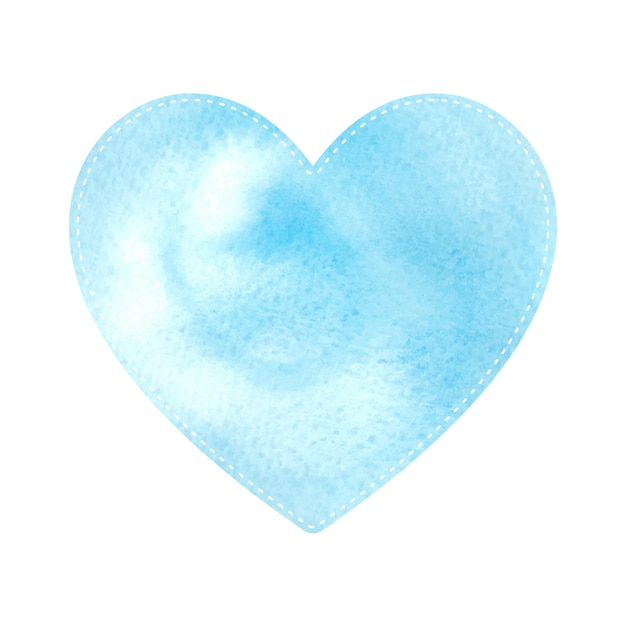 Blue heart pattern shapes on white background Premium Vector