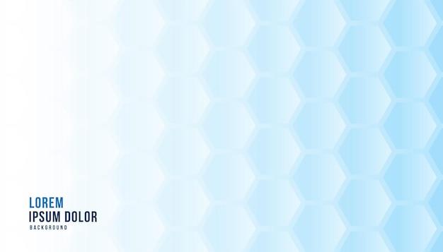파란색 육각형 배경 의료 개념 무료 벡터