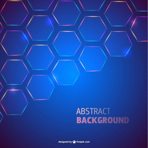 Blue hexagons background Free Vector