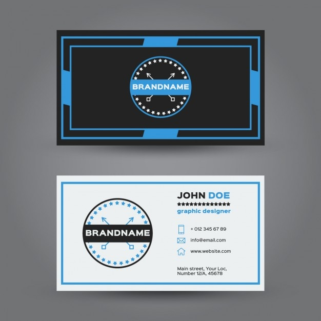 Blue hipster business card vector free download blue hipster business card free vector reheart Gallery