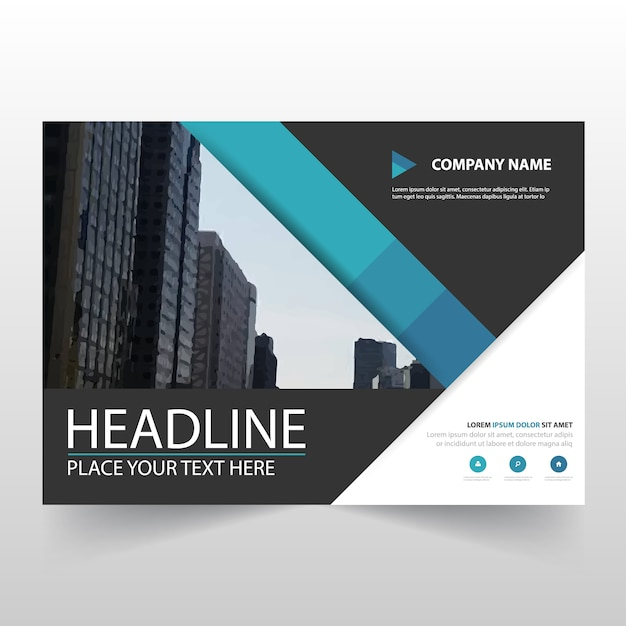 Blue Horizontal Business Flyer Template Free Vector