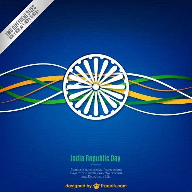 Blue Indian republic day background