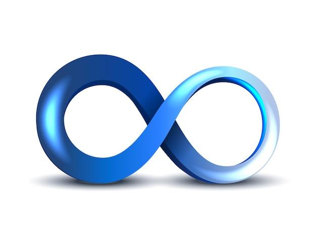 Синий символ бесконечности Бесплатные векторы
