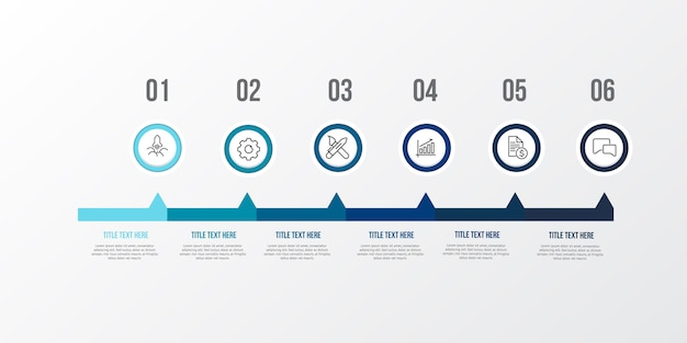 Blue infographic 3d table Premium Vector
